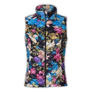 North Face Thermoball Quilted Floral Vest Small